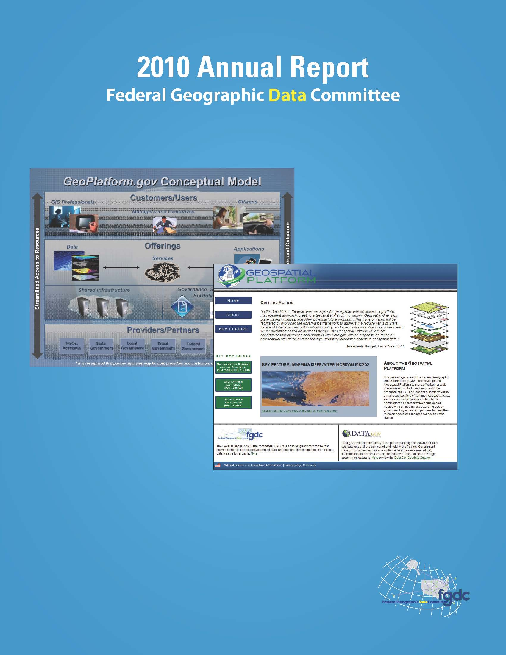 2010 FGDC Annual Report now available