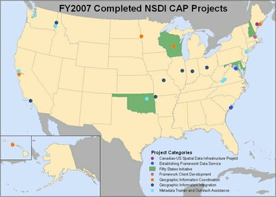 2007 Accomplishments Map