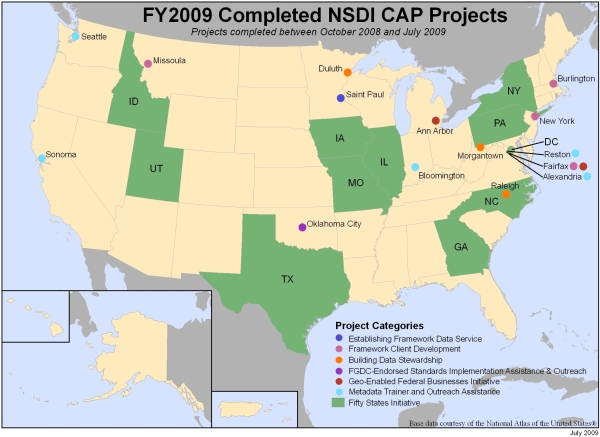 FY2009 Accomplishments Map