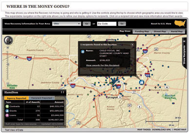 Example map from Recovery.gov Web site.