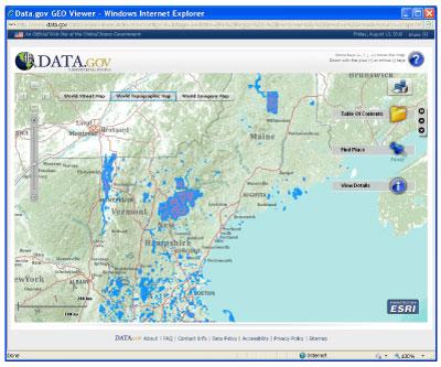 Data.gov GEO Viewer screenshot.