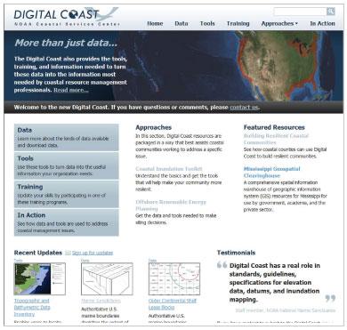 Digital Coast Web site screenshot.