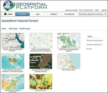 The Geospatial Platform Map Gallery.