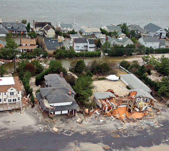 Picture of damage from Hurricane Sandy