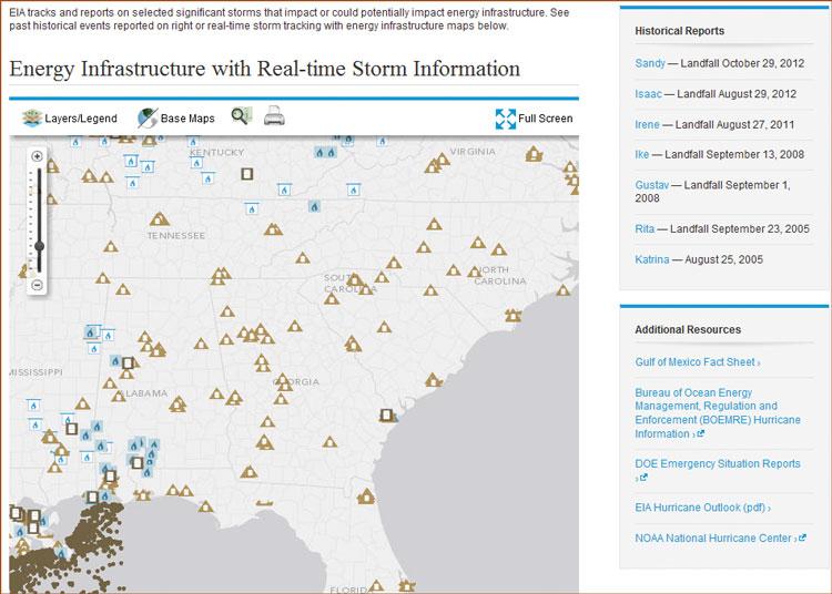 EIA interative weather map.