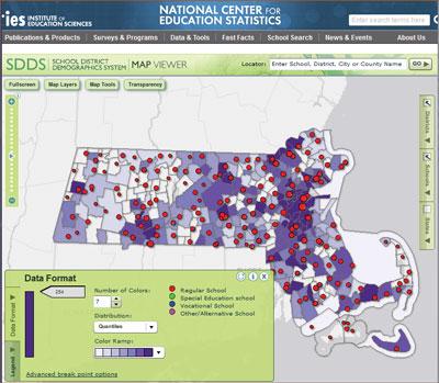 Screenshot for SDDS map viewer.
