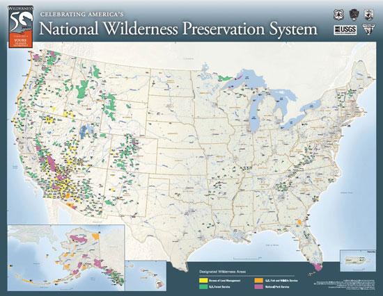 National Boundary-Wilderness map.