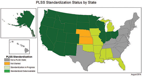 PLSS Standardization Status by State
