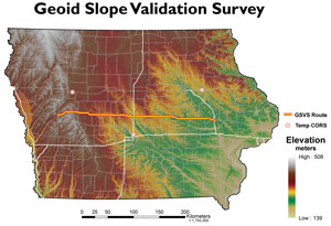 Map showing Geold Slope validation survey results