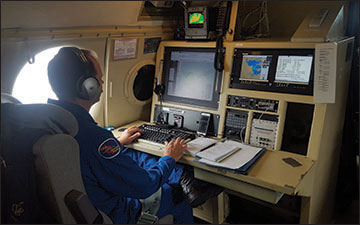 Photo of an operator with NOAA.